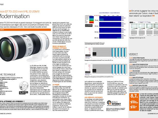 TEST : Canon 70-200 mm f/4 L IS USM II [BONUS MDLP N°109]