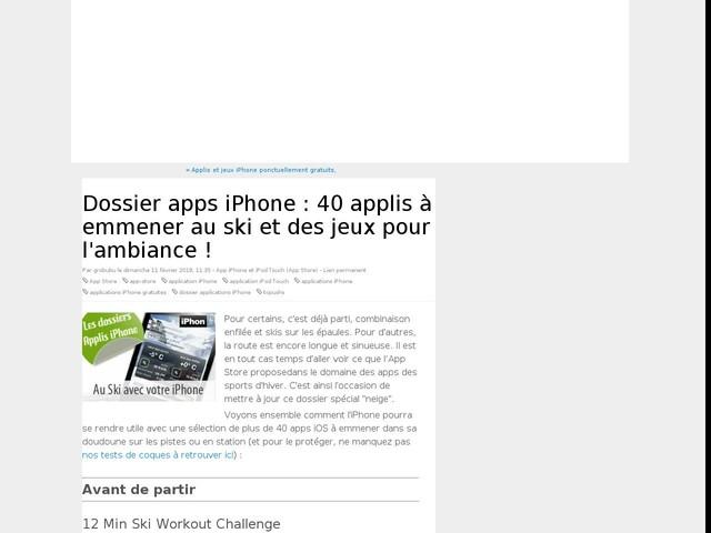 Dossier apps iPhone : 40 applis à emmener au ski et des jeux pour l'ambiance !