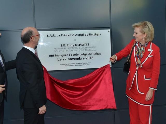 La princesse Astrid de Belgique inaugure l'Ecole belge de Rabat (PHOTOS)