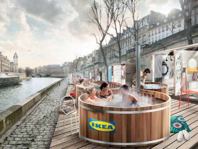 IKEA va installer des bains nordiques le long des quais de Seine