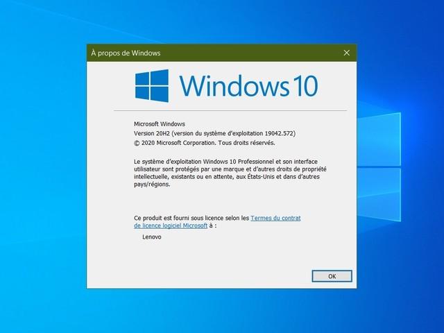 Windows 10 : comment installer la mise à jour October 2020 update ?
