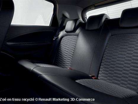 Renault va employer pour sa Zoé du tissu en fils cardés recyclés