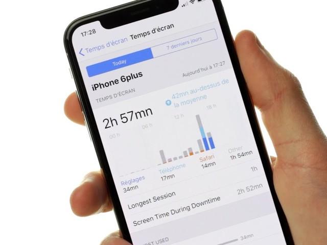 La fonction Temps d'écran draine la batterie des iPhone