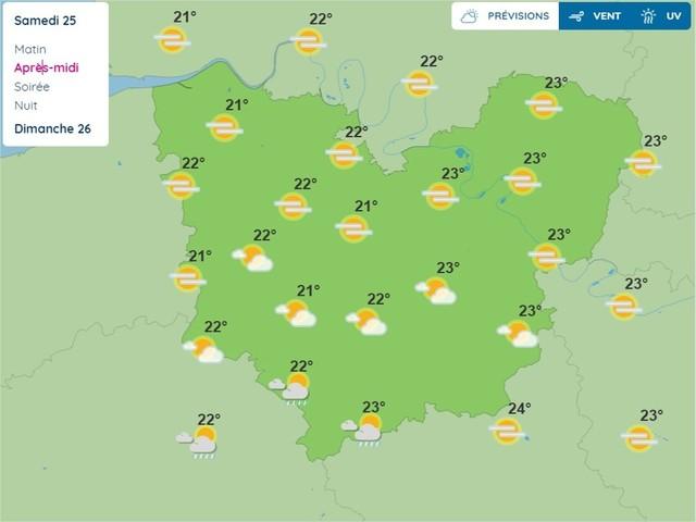 Eure. La météo du samedi 25 septembre 2021 et les fêtes à souhaiter