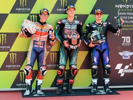 MotoGP: de nouveau en pole, Quartararo est chez lui au GP de Catalogne
