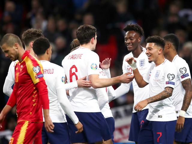 Éliminatoires Euro 2020 : l'Angleterre cartonne le Monténégro avec le premier but d'Abraham, le Portugal étrille la Lituanie