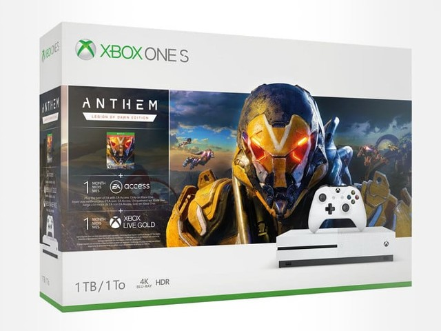 Xbox One S 1 To + Anthem Legion of Dawn Edition + 1 mois EA Access / Xbox Live Gold / Game Pass à 169.99 €