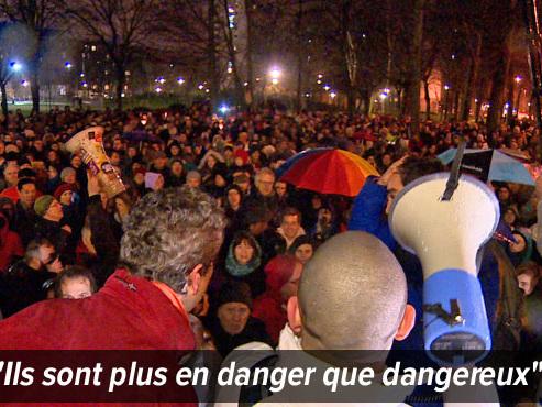"""Plus de 3.000 personnes mobilisées à Bruxelles pour soutenir les migrants et empêcher une opération policière: """"On ne veut pas d'arrestation inhumaine"""""""