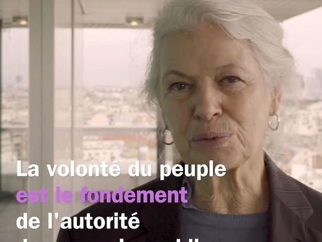 La Déclaration universelle des droits de l'homme, lue Sylvie Granotier