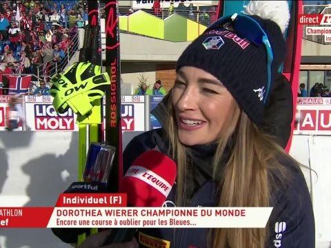 Biathlon - Mondiaux (F) - Dorothéa Wierer, championne du monde de l'individuel: «J'ai tout donné sur les derniers mètres»