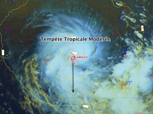 A plus de 2000km de La Réunion, une tempête tropicale modérée baptisée Gabekile