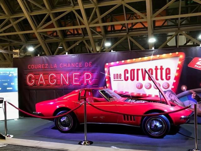 Nous faisons tirer une Corvette 68 restaurée, comme à l'origine!