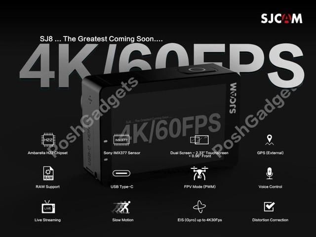 Sjcam SJ8 avec 4K 60Fps, une gopro Killer en approche