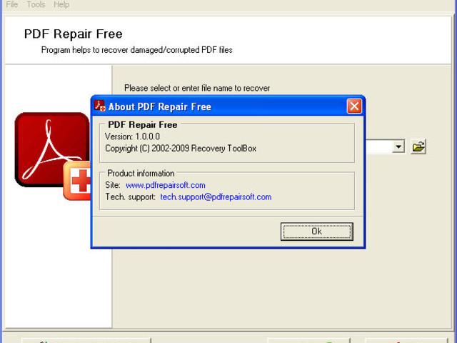 PDF Repair Free : logiciel gratuit pour récupérer un PDF endommagé