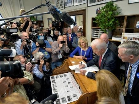 Rattrapé par ses rivaux, Joe Biden à la relance dans le New Hampshire