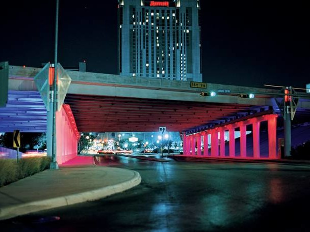 Bill FitzGibbons' Colourful Projections in Public Spaces