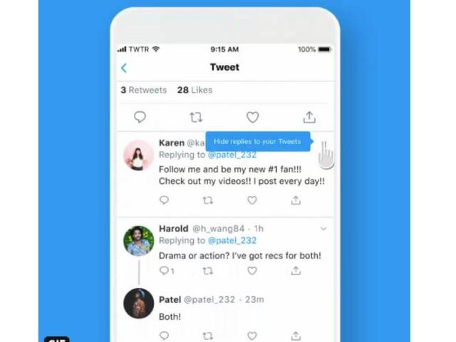 Sur Twitter, vous pouvez désormais cacher les réponses indésirables à vos tweets