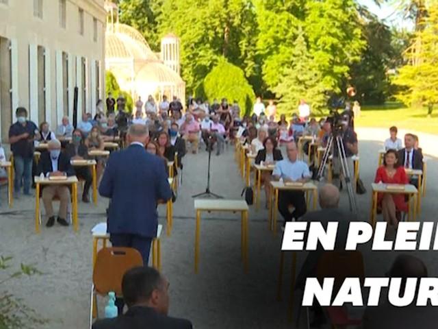Déconfinement: le conseil municipal bucolique de Gradignan en Gironde
