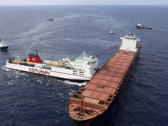 Collision de navires au large de la Corse : il resterait moins de 2% du carburant échappé en mer