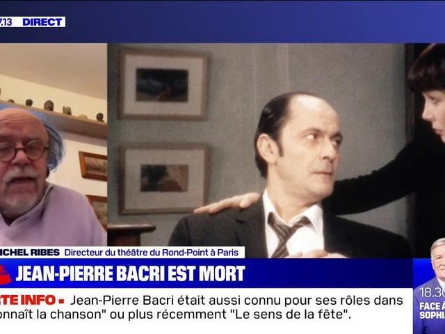 """Jean-Michel Ribes, directeur du théâtre du Rond-Point à Paris, à propos de Jean-Pierre Bacri: """"C'était quelqu'un qui était l'envers du people habituel"""""""