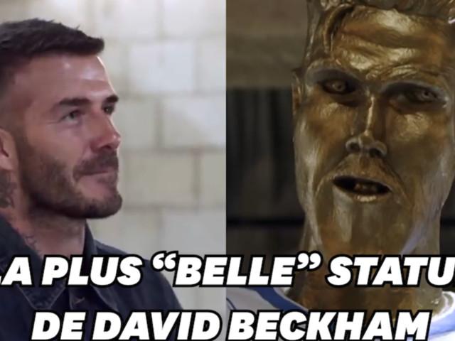 Beckham piégé par une statue de lui aussi ratée que celle de Ronaldo