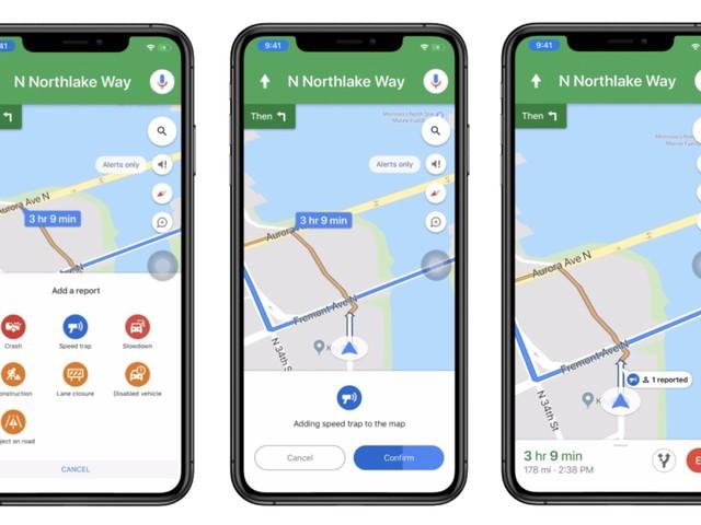 Google Maps se rapproche de Waze, fournissant des rapports d'incidents plus larges