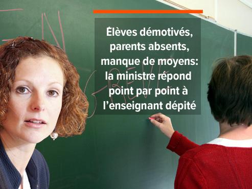 Un enseignant liégeois profondément dépité crie son désespoir: voici ce que la ministre de l'Education lui répond