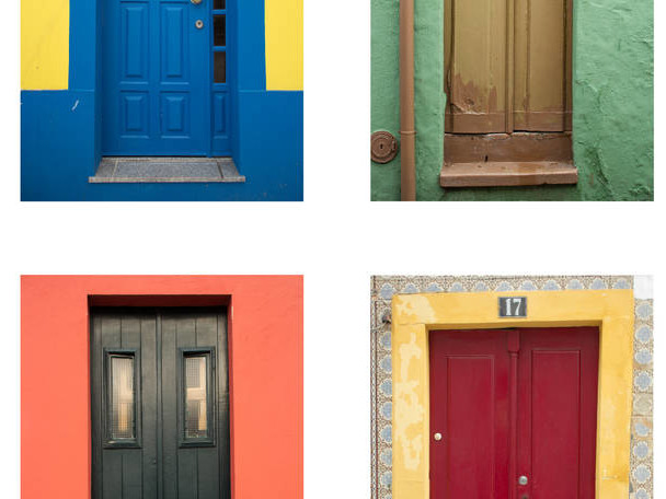 Colorful Doors in Aveiro by Catarina Soares