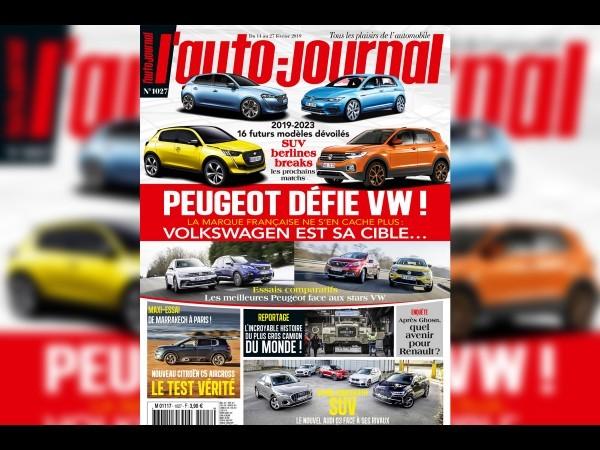Peugeot défie VW dansL'Auto-Journal (n°1027) !
