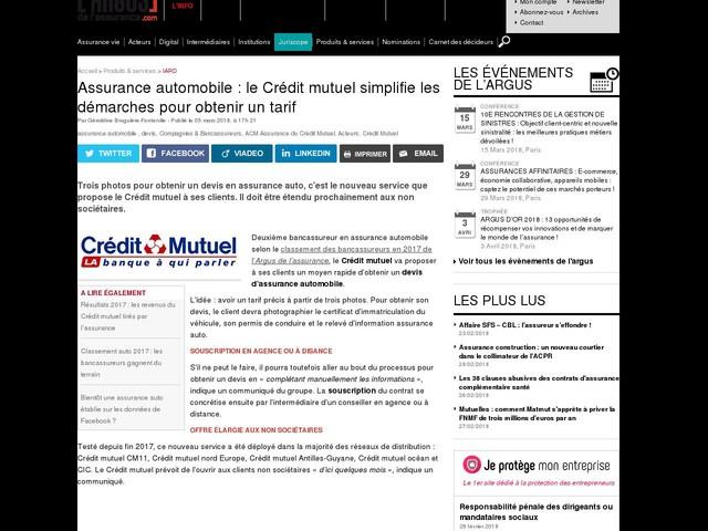 Assurance automobile : le Crédit mutuel simplifie les démarches pour obtenir un tarif