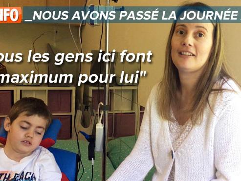 Nous avons passé la journée avec: Ilian, 8 ans, et ses parents dans un centre de soins pour handicapés mentaux