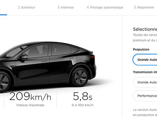 Tesla Model Y: le configurateur français est ouvert
