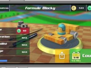 Blocky Racing : 50 circuits pour s'affronter dans des voitures en briquettes, à tester sur iPhone et iPad
