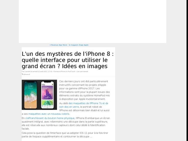 L'un des mystères de l'iPhone 8 : quelle interface pour utiliser le grand écran ? Idées en images