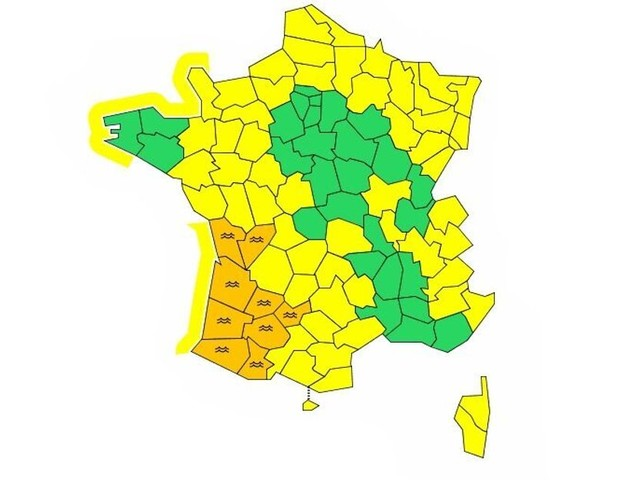 Intempéries: 9 départements du sud-ouest en vigilance orange, 2 morts