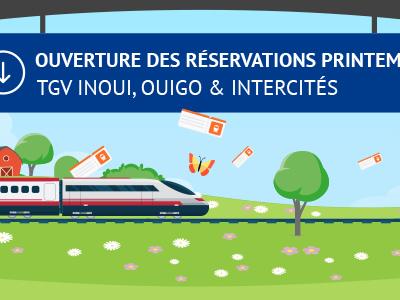 SNCF : début des réservations de billets Prem's pour les vacances de printemps 2019