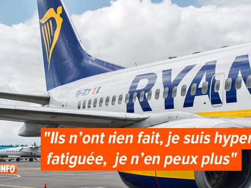 """Enceinte, Sabrina devait revenir de Rome avec un vol Ryanair, mais rien ne s'est passé comme prévu: """"On a été laissé là comme des bêtes"""""""