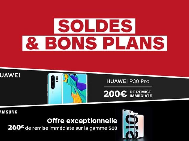 Les Soldes continuent chez Boulanger sur les gammes Samsung Galaxy S10 et Huawei P30