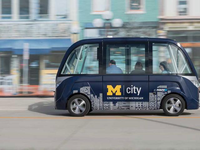 Les bus autonomes français Navya s'exportent à l'université du Michigan