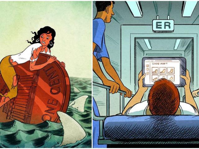 Top 13 des illustrations alarmistes de korenshadmi, pour bien bien déprimer