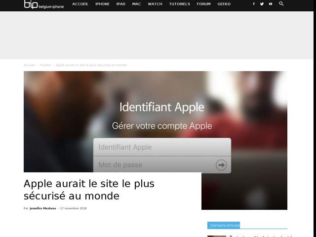 Apple aurait le site le plus sécurisé au monde