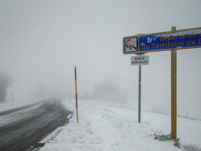 Une dizaine de centimètres de neige au Ballon d'Alsace
