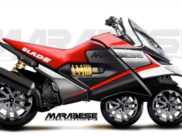 Blade Bike, le scooter à 3 roues en ligne de Marabese