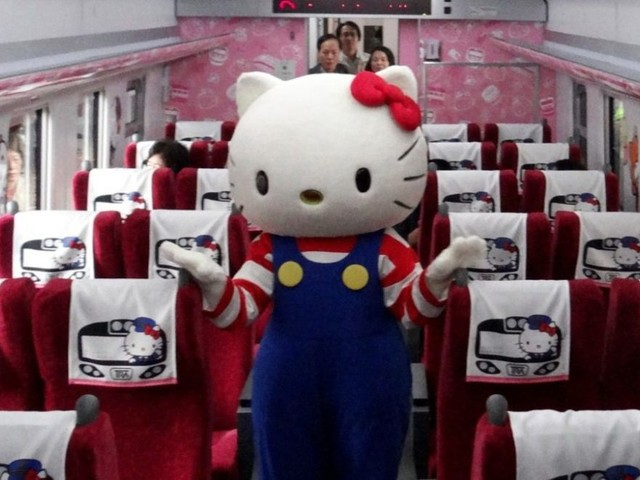 Bienvenu à bord du train Hello Kitty au Japon !