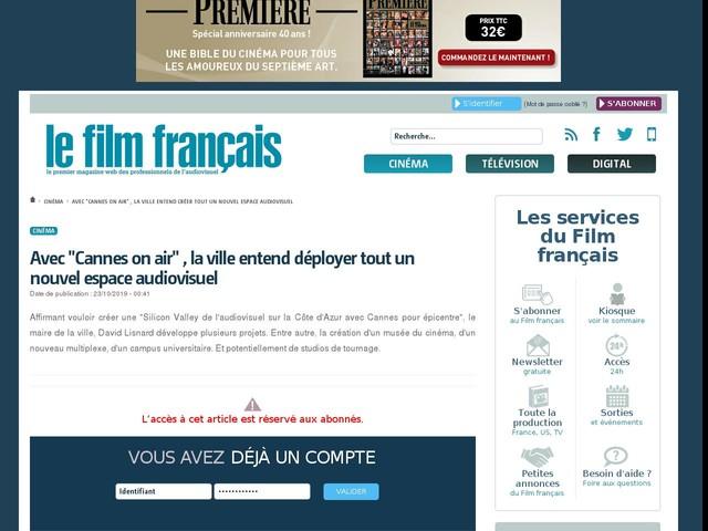 """Avec """"Cannes on air"""" , la ville entend déployer tout un nouvel espace audiovisuel"""