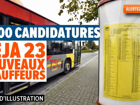"""Énorme succès de la campagne de recrutement du TEC à Liège: """"On traite toujours les demandes d'octobre"""""""