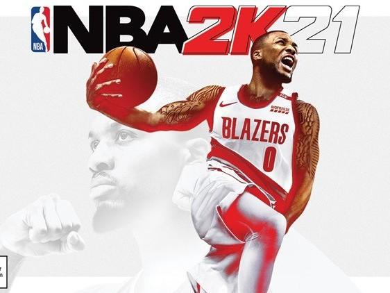 Damian Lillard sur la jaquette de NBA 2K21