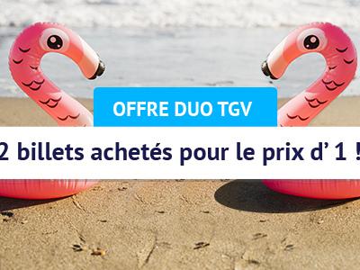 Promo SNCF : deux billets TGV pour le prix d'un pour voyager durant l'été