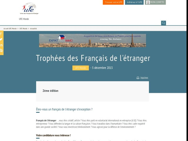Trophées des Français de l'étranger
