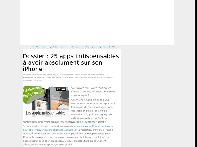 Dossier : 25 apps indispensables à avoir absolument sur son iPhone